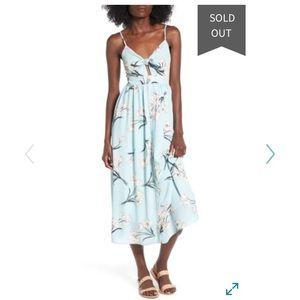 Soprano light blue floral midi dress